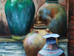 Antique Pots by Sandra Marshall