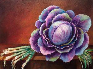 Colourful Cabbage bu Sandra Marshall