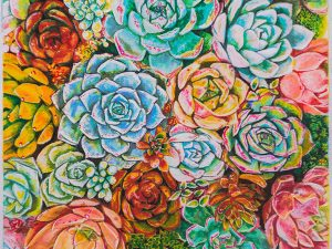 Succulent Succulents Print by Gail Steel
