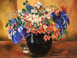 Vase of Flowers by Sandra Marshall
