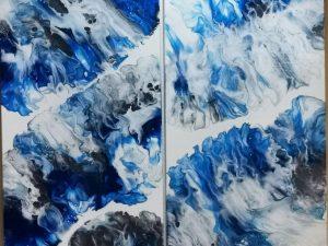 Blue Waves by Jennifer McKay of Dream Dust Designs