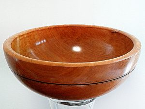 Maple Bowl with Inscribed Black Detail by Brian Tyson