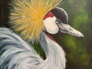 African Crane by Wendy Johnson