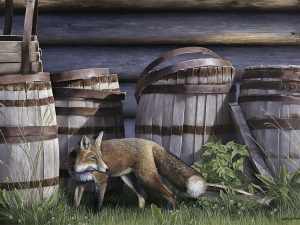 Barkerville Fox by Laura Levitsky