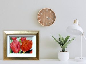 A Gift of Tulips Print by Olivia Burrage
