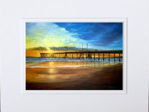 Sunset at Santa Monica Pier by Olivia Burrage