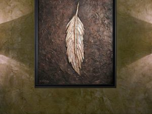 The Feather on Display by Olivia Burrage