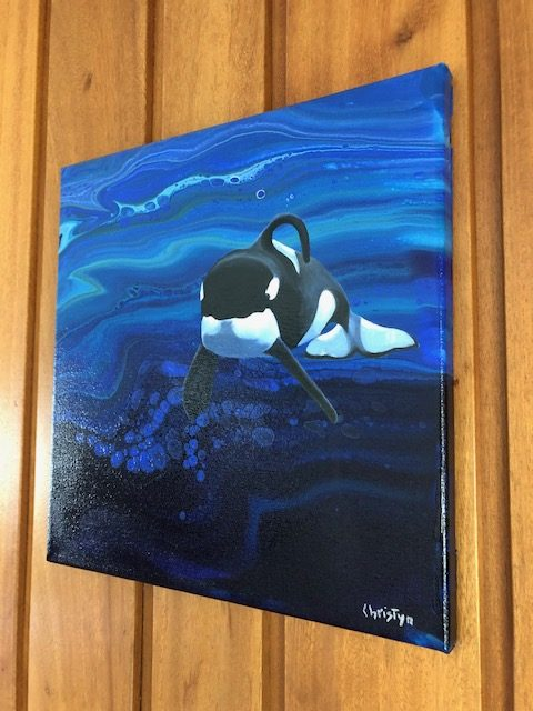 British Columbian Orca by Christine Bernard