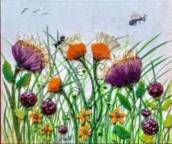 Whimsical Garden Series #1 by Yvette Gagnon