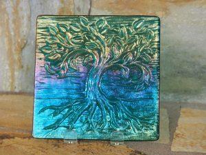 Tree of Life Plate by Vicki Urbich