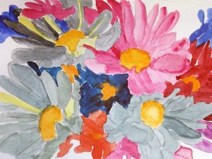 Rainbow Daisies by Jocelyn Bichard