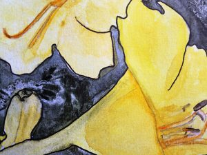 Yellow Lilies by Jocelyn Bichard