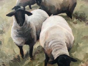 Ewe Looking At Me by Laurinda Lee