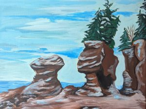 Winter at Hopewell Rocks by Wendy Capp